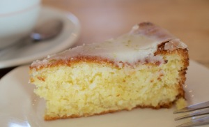 coconut, macadamia and lime cake