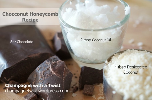 Ingredients for Chocconut Honeycomb champagnetwist.wordpress.com