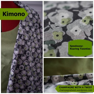 Fabric for kimono - Champagne with a twist
