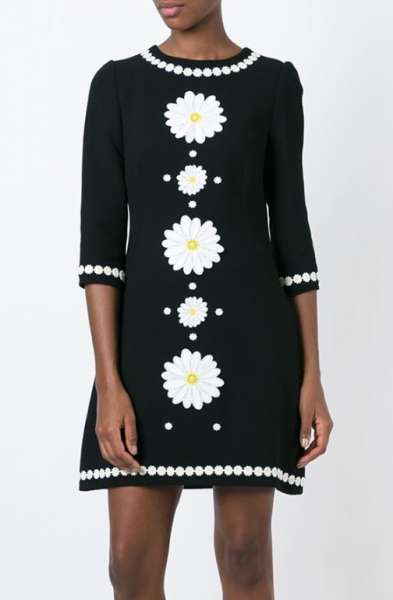 Dolce and Gabbana daisy embroidered dress.