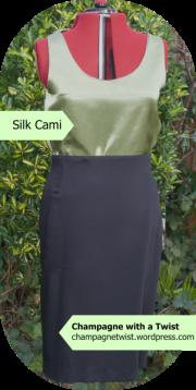 silk cami, handmade top