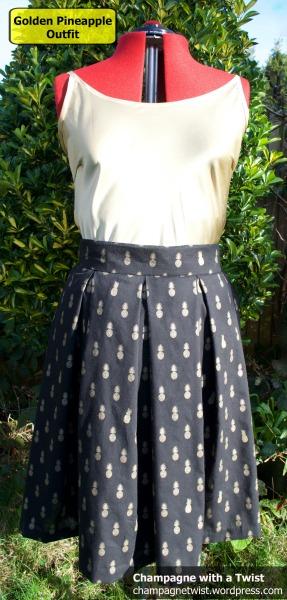 Skirt, slanted pockets, jupe, anana