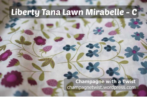Liberty 100% cotton fabric material purple blue flower print