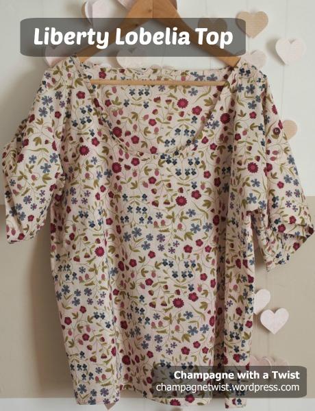 short sleeved top liberty tana lawn 100% cotton champagnetwist.wordpress.com