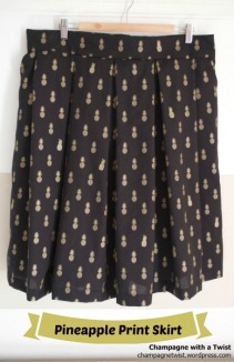 Pineapple Print Skirt ananas jupe