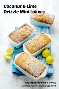 Coconut and lime drizzle mini loaves