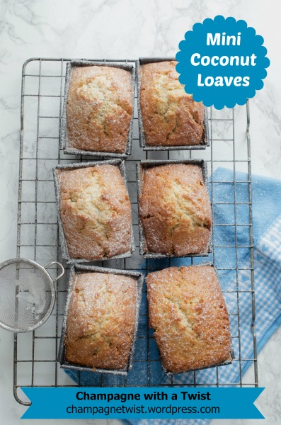 Mini coconut bread loaves