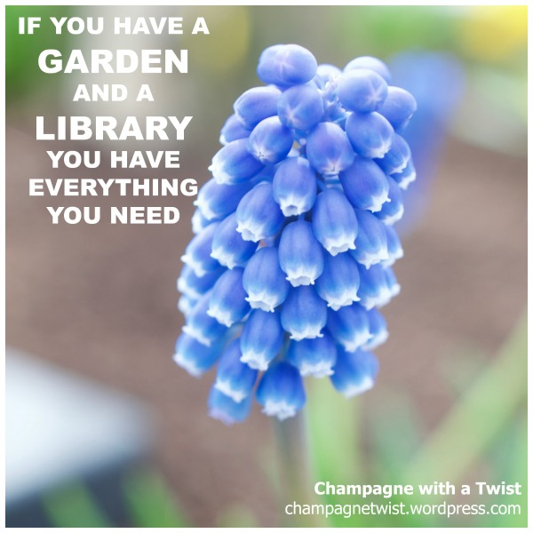 library garden Friday quote