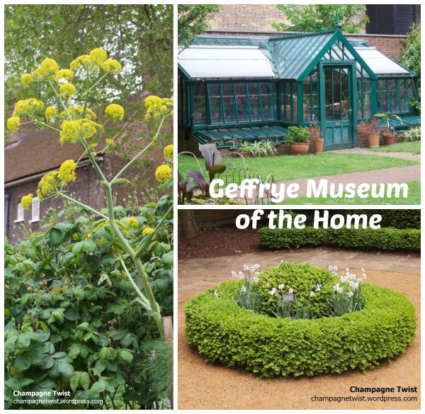 giant fennel, box circle and green house, Geffrye Museum of the Home