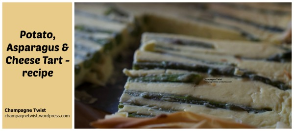 vegetarian recipe - potato, asparagus and cheese tart
