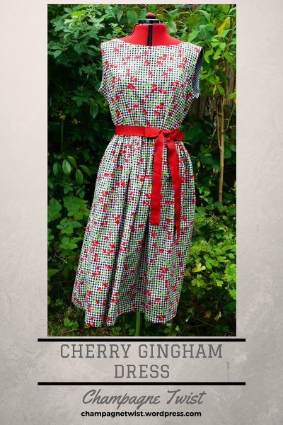 Cherry Gingham Dress, by Champagne Twist