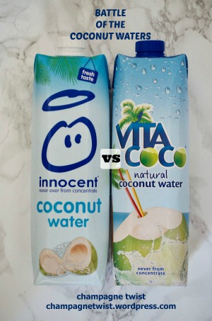 Review: Innocent and Vita Coco coconut water