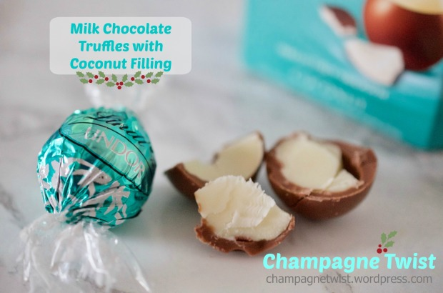 Coconut truffles with milk chocolate by Lindt