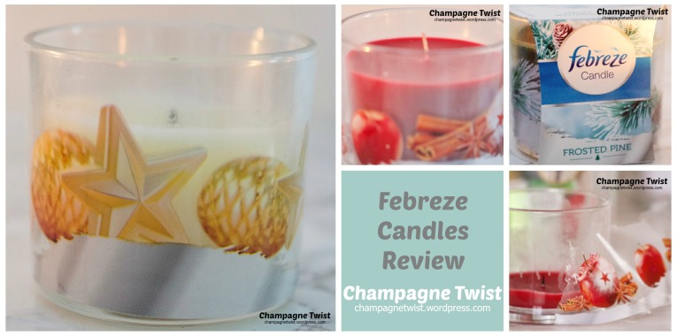 Febreze Scented Candles review by Champagne Twist. champagnetwist.wordpress.com
