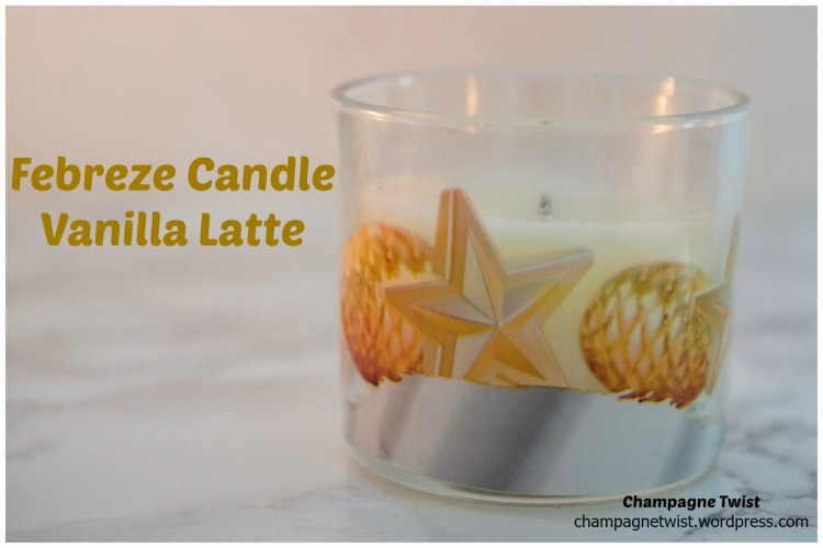 febreze candle vanilla latte review by champagne twist. champagnetwist.wordpres.com