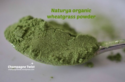 Naturya organic wheatgrass powder - champagnetwist.wordpress.com