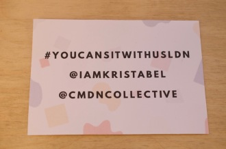 #YouCanSitWithUsLdn - Champagne Twist