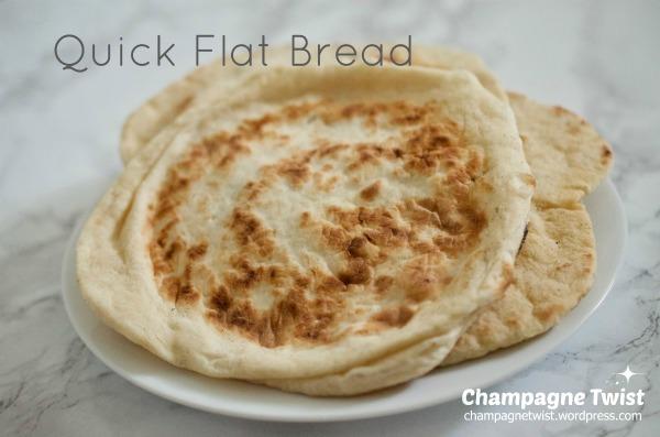 quick flat bread recipe by champagne twist.