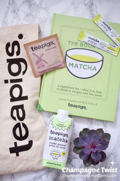 Teapigs Matcha tea product flat lay by Champagne Twist champagnetwistwordpress.com