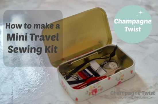 mini travel sewing kit | champagne twist