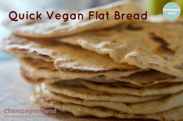 quick vegan flat bread