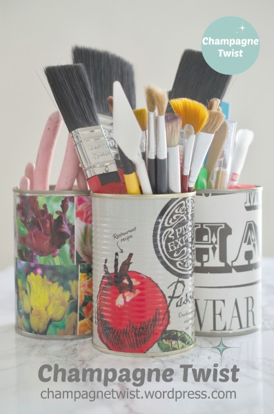 tin can pen holders