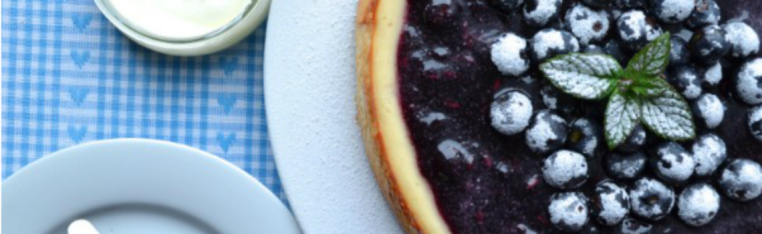 blueberry and lavender cheesecake recipe by ChampagneTwist.com