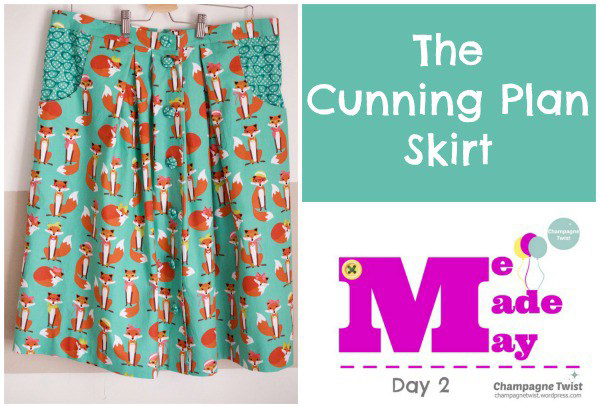 The Cunning Plan Skirt   Champagne Twist