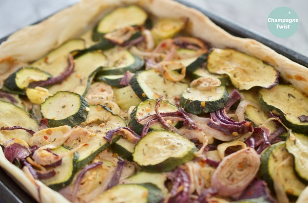 courgetteonion pie bake