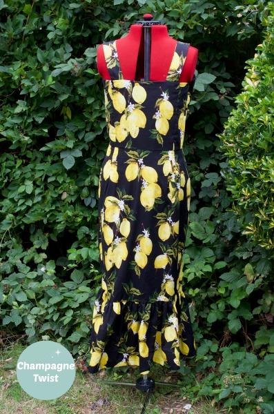 Back of the Lemon Grove Dress