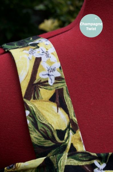 final shoulder lemon dress