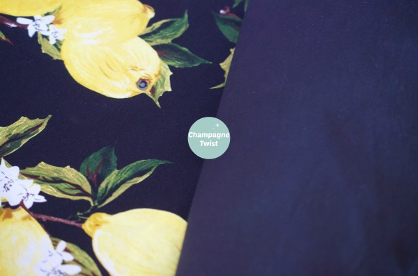 Material for the Lemon Grove Dress by Champagne Twist