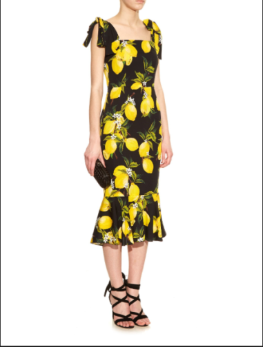 The D & G lemon print dress