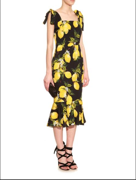 The D & G lemon print dress