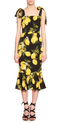 Dolce and Gabbana lemon print dress.