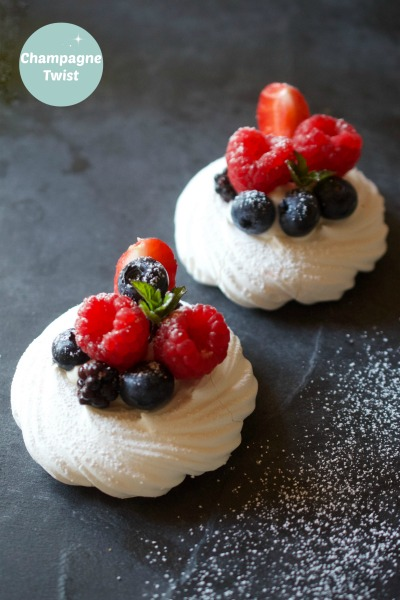 berry meringue nest