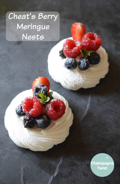 berry meringue nests