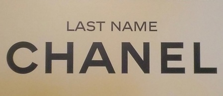 Espace Gabrielle Chanel - Last name Chanel - champagne twist