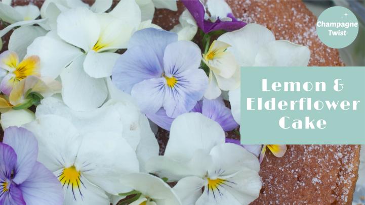 Lemon and elderflower cake recipe - Champagne Twist
