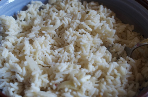 Coconut rice in bowl - champagnetwist.com