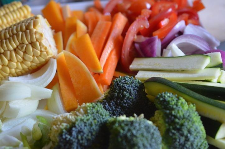 Cut vegetables Caribbean food month | ChampagneTwist.com