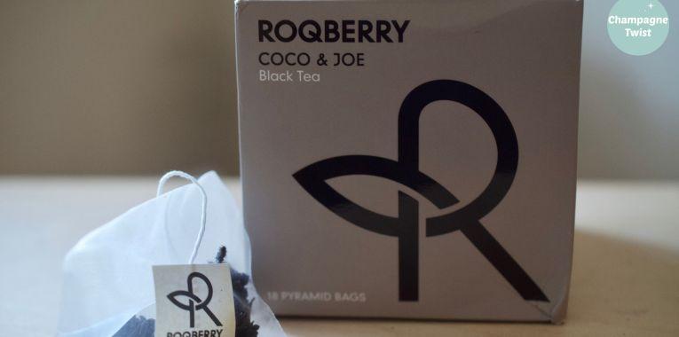 Roqberry Coco Joe black tea review   Champagne Twist